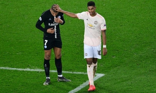 rtl 5minutes la photo du jour 7 mars quand rashford console mbappe. Black Bedroom Furniture Sets. Home Design Ideas