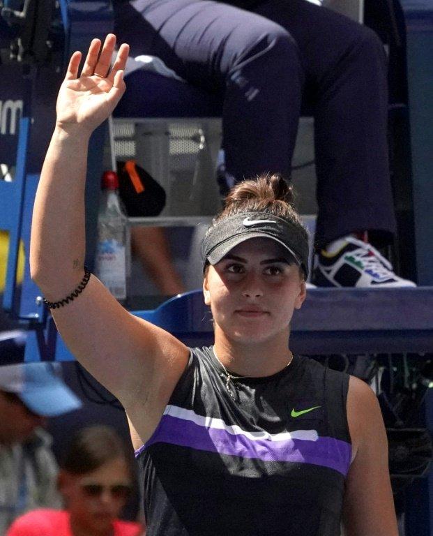 La Canadienne Bianca Andreescu se qualifie pour les 8es de finale de l'US Open le 31 août 2019