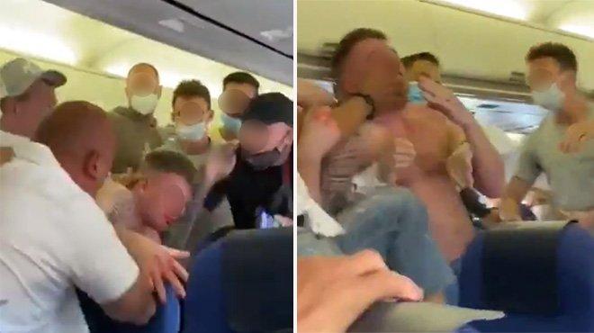 Refus de porter un masque en vol : bagarre générale (vidéo)