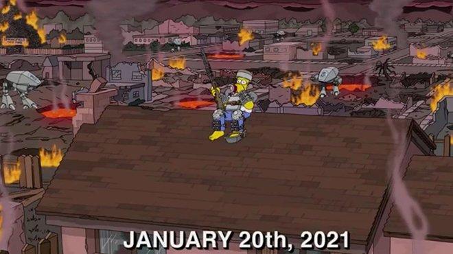 Vision apocalyptique: La prédiction des Simpson pour 2021