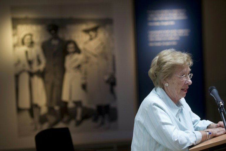 Anne Frank's stepsister to meet with teens in Nazi salute photos
