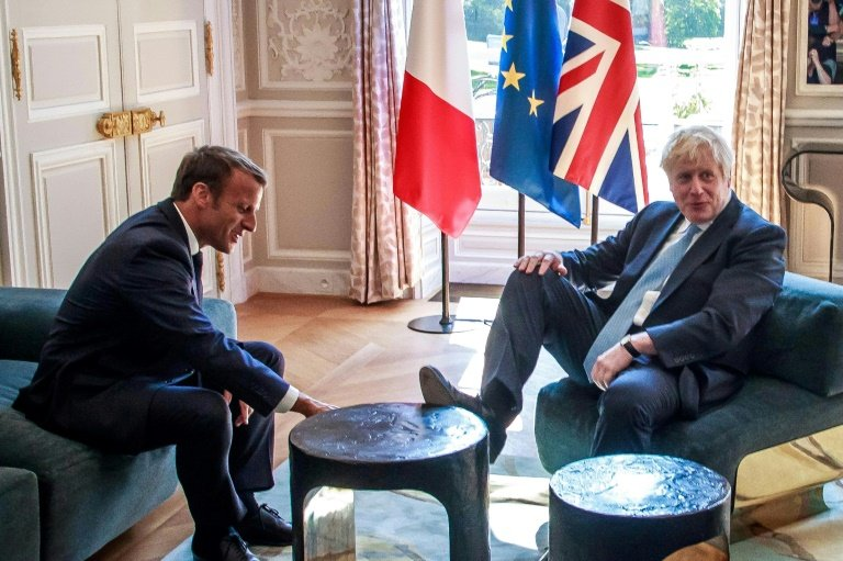 Feet up: 'Sorry!' Johnson puts foot in it at Macron's palace