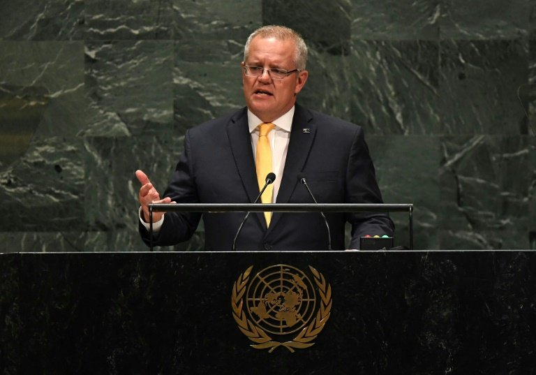 Scott Morrison uses United Nations speech to defend Australia's climate change policy