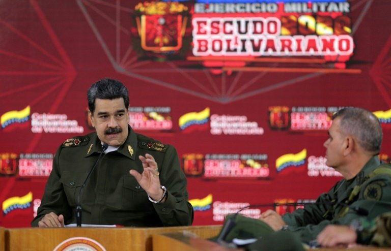 Venezuela's Maduro stages a show of force