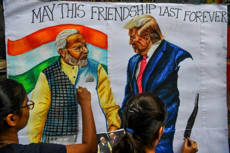 Diplomatie: Donald Trump est arrivé en Inde - Monde