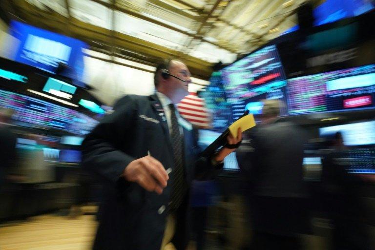 Des opérateurs à la Bourse de New York le 12 mars 2020