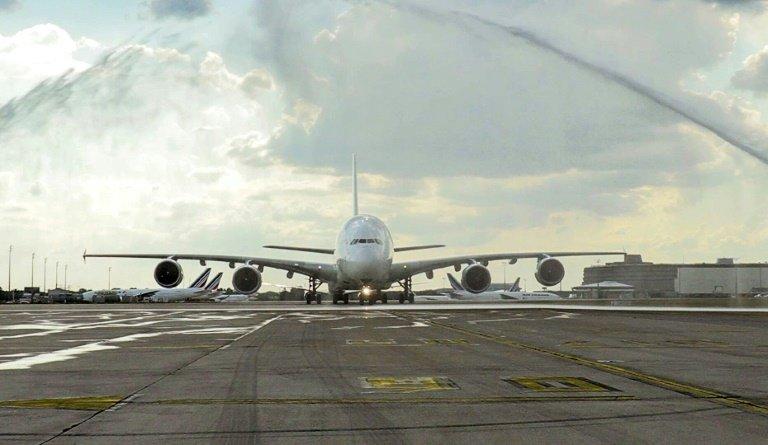 Un dernier vol en A380 pour les salariés d'Air France (afp)