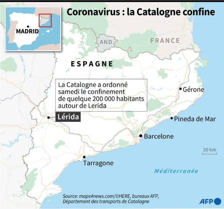 Espagne : la Catalogne se reconfine partiellement après une explosion des cas de coronavirus