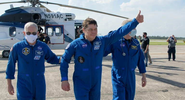 Astronauts Recount Ride Back To Earth — Riding A Dragon