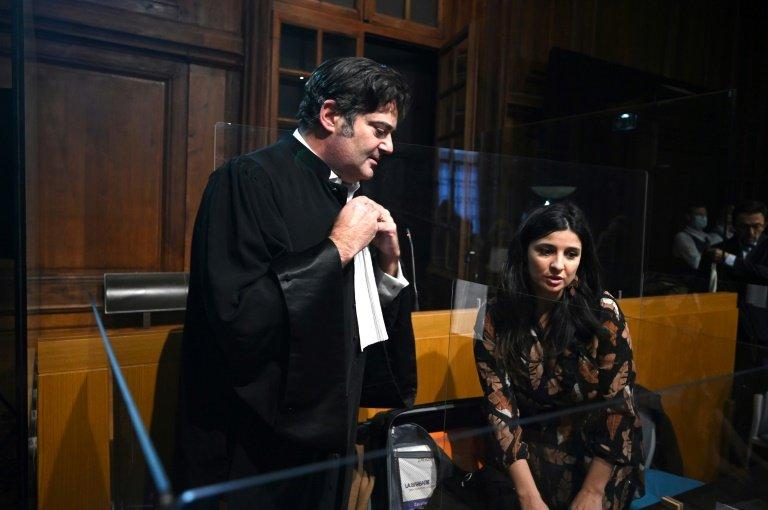 L'avocat de Jonathann Daval Me Randall Schwerdorffer, le 16 novembre 2020 devant la cour d'assises de la Haute-Saône à Vesoul
