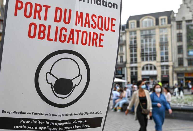 64% des Français sont favorables au masque à l'extérieur — Sondage